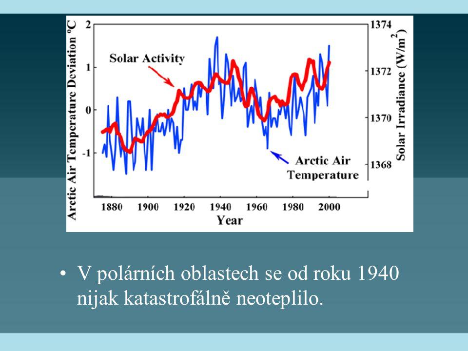 V polárních oblastech se od roku 1940 nijak katastrofálně neoteplilo.