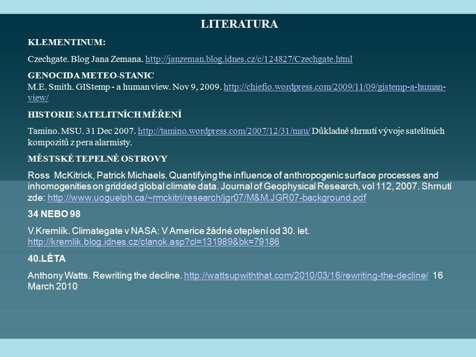 LITERATURA KLEMENTINUM: Czechgate. Blog Jana Zemana.