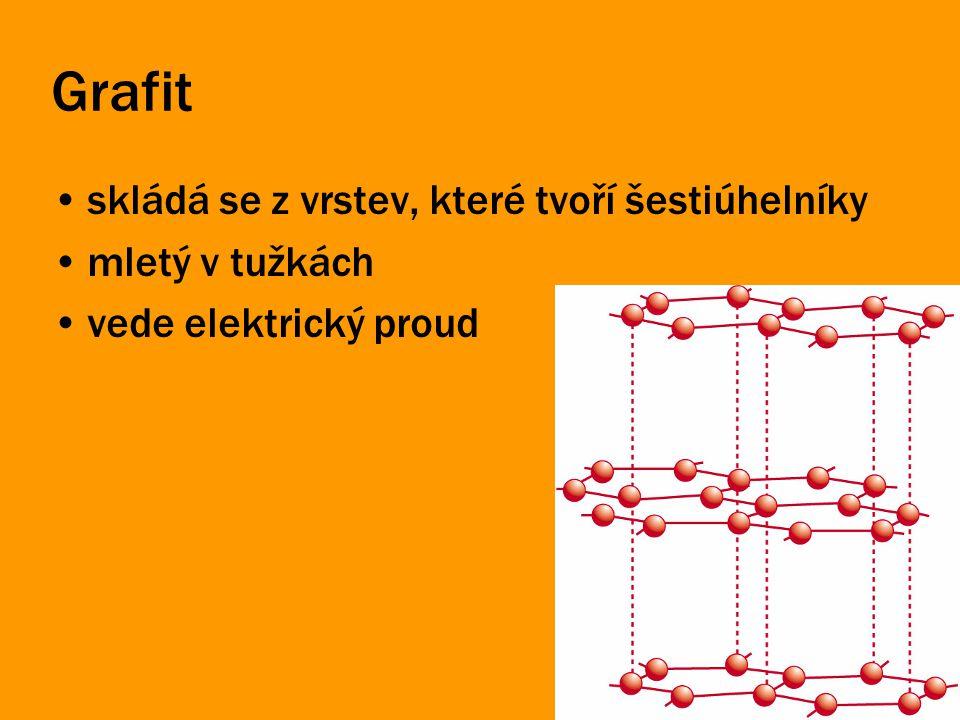 Grafit skládá se z vrstev, které tvoří šestiúhelníky mletý v tužkách vede elektrický proud