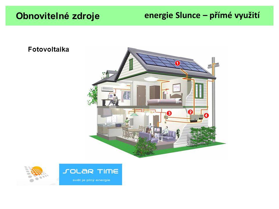 Obnovitelné zdroje energie Slunce – přímé využití Fotovoltaika