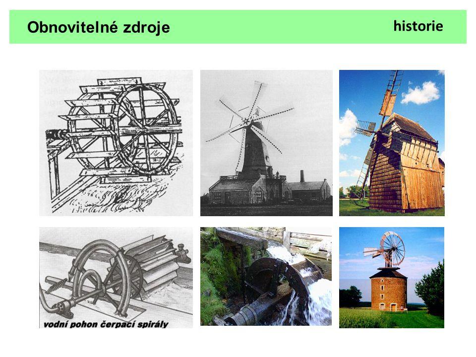 Obnovitelné zdroje Energie větru Větrná elektrárna Teorie Větrné elektrárny využívají síly větru k roztočení vrtule (větrná turbína).