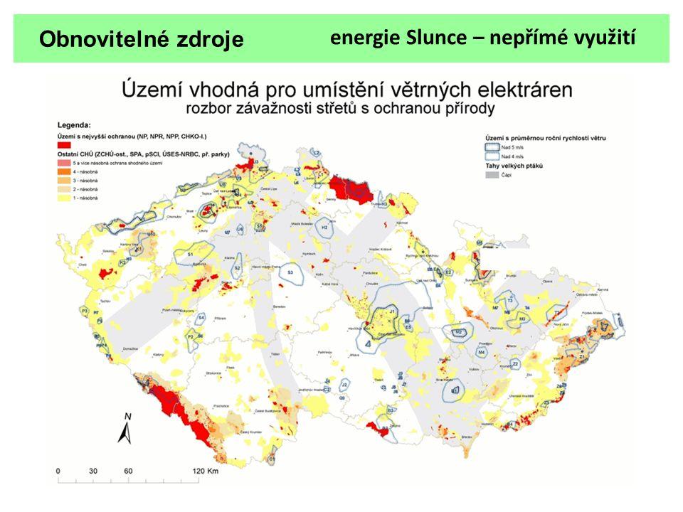 Obnovitelné zdroje energie Slunce – nepřímé využití