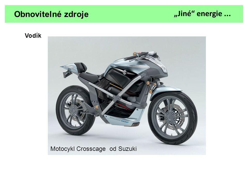 """Obnovitelné zdroje Vodík """"Jiné"""" energie... Motocykl Crosscage od Suzuki"""