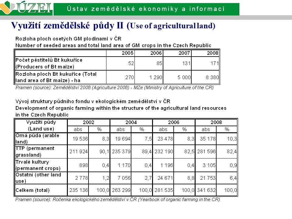 Využití zemědělské půdy II ( Use of agricultural land)