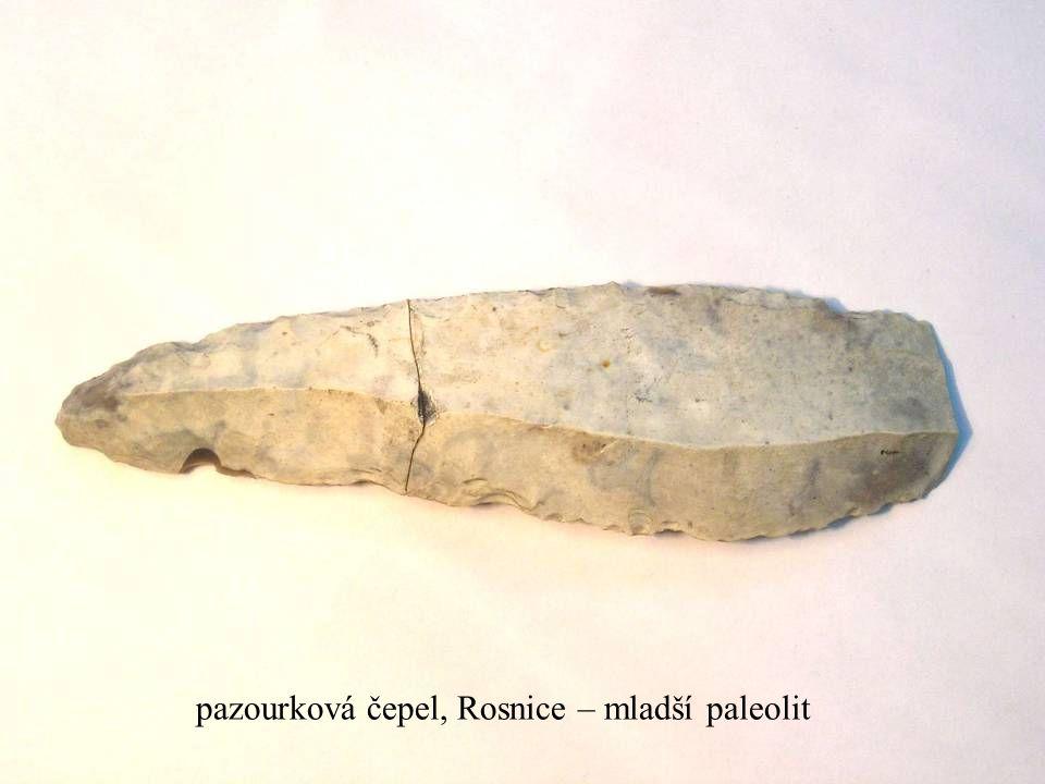 Jakub Jirásek6 pazourková čepel, Rosnice – mladší paleolit