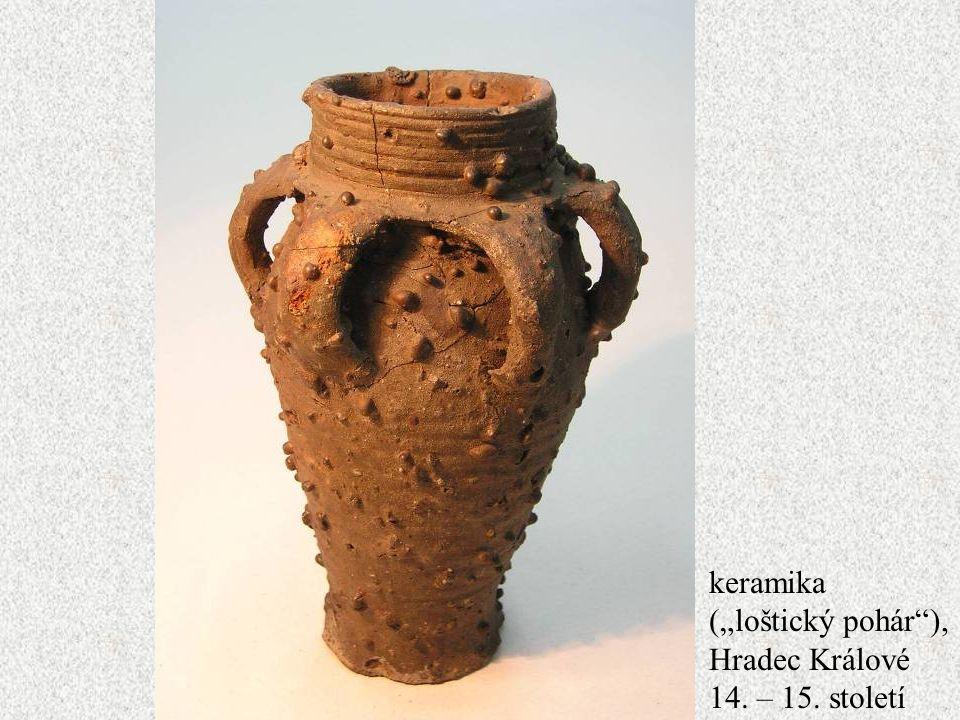 "Jakub Jirásek61 keramika (""loštický pohár""), Hradec Králové 14. – 15. století"