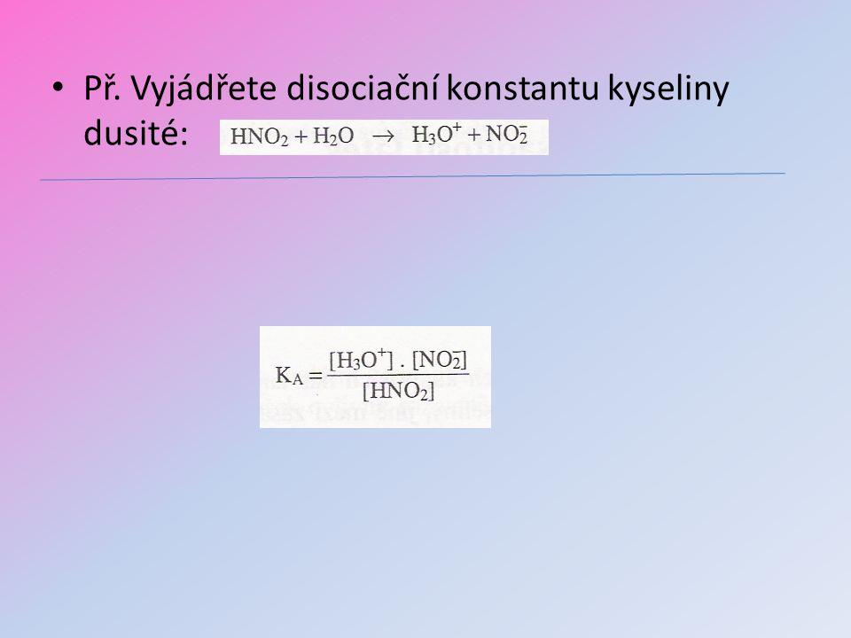 Sörensenův vodíkový exponent pH Iontový součin vody je základem stupnice kyselosti roztoků pH = -log[H 3 O + ] pH + pOH= 14 pH<7…….kyselé pH=7 …..