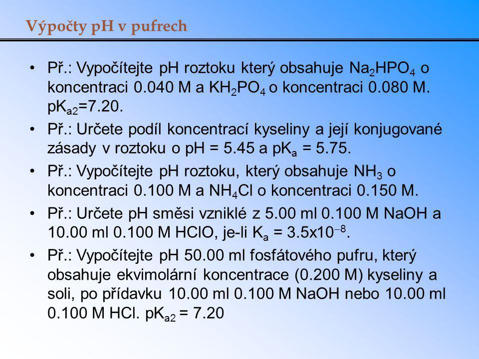 Udržování pH v krvi