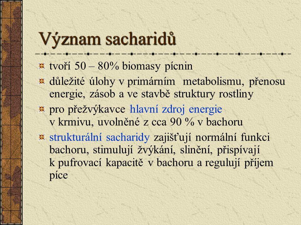 Dělení sacharidů I.