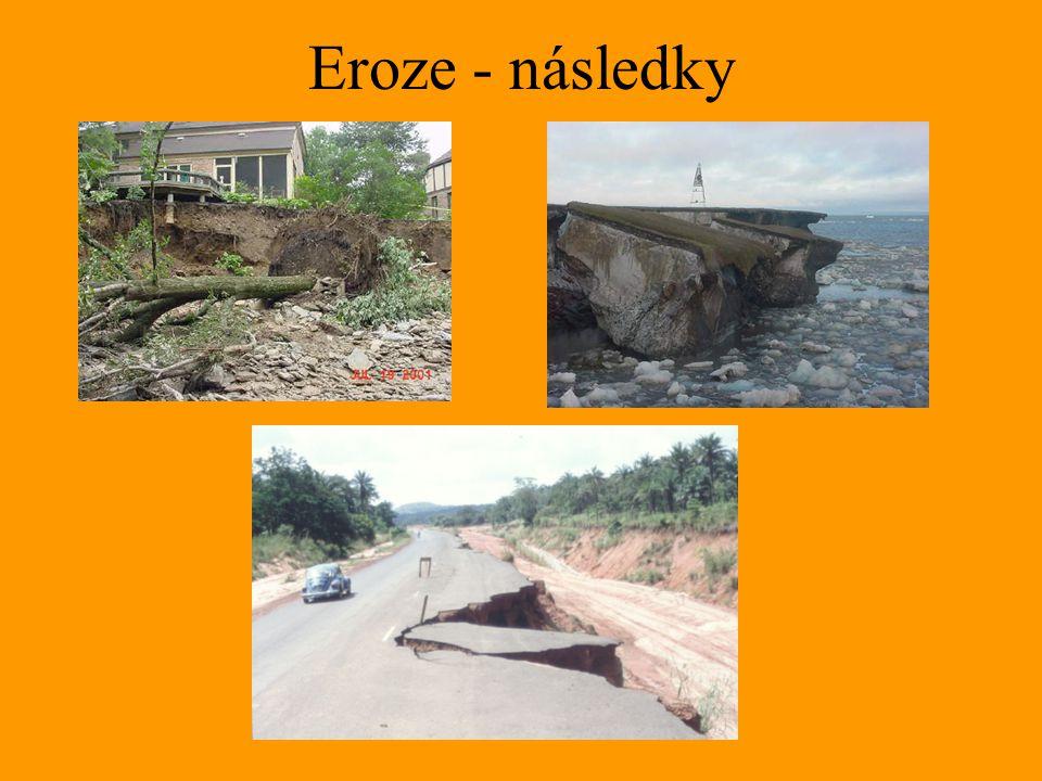 Eroze - následky