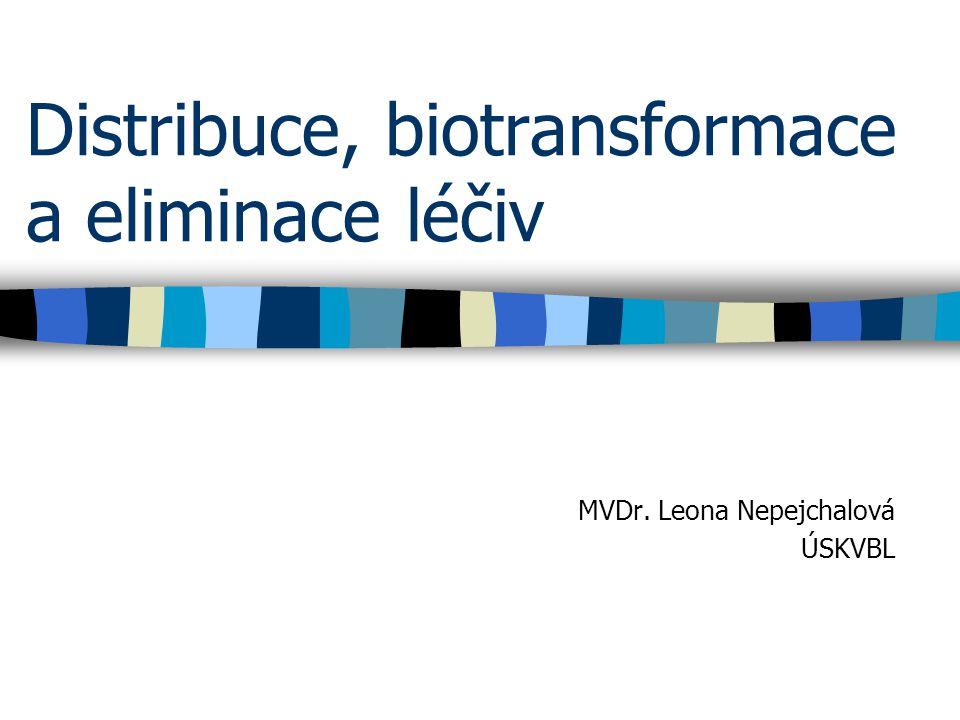 Distribuce, biotransformace a eliminace léčiv MVDr. Leona Nepejchalová ÚSKVBL