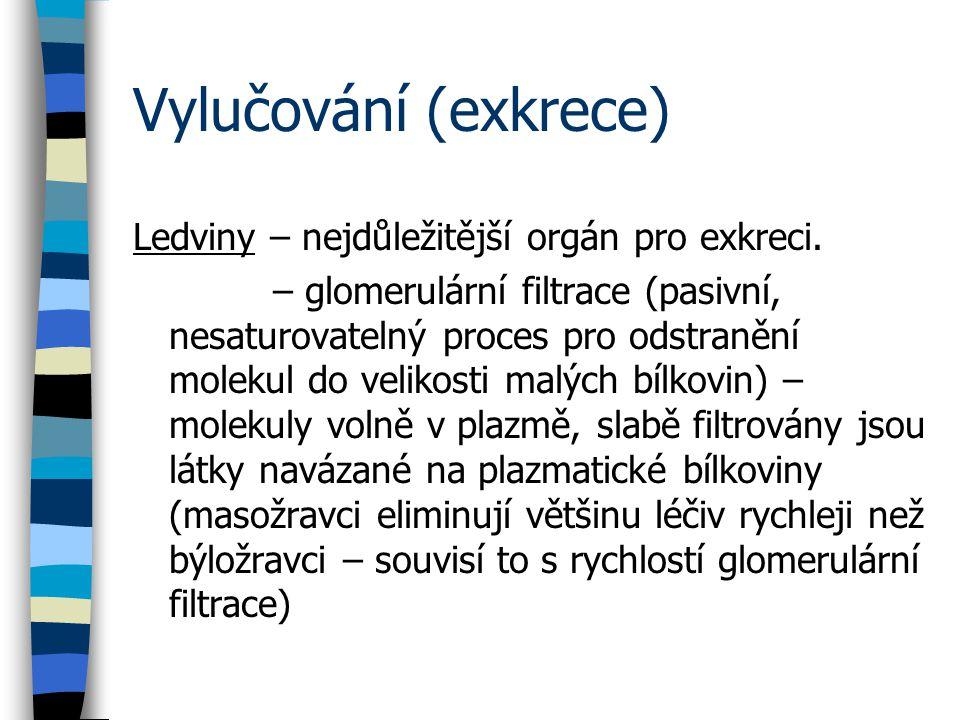 Vylučování (exkrece) Ledviny – nejdůležitější orgán pro exkreci.
