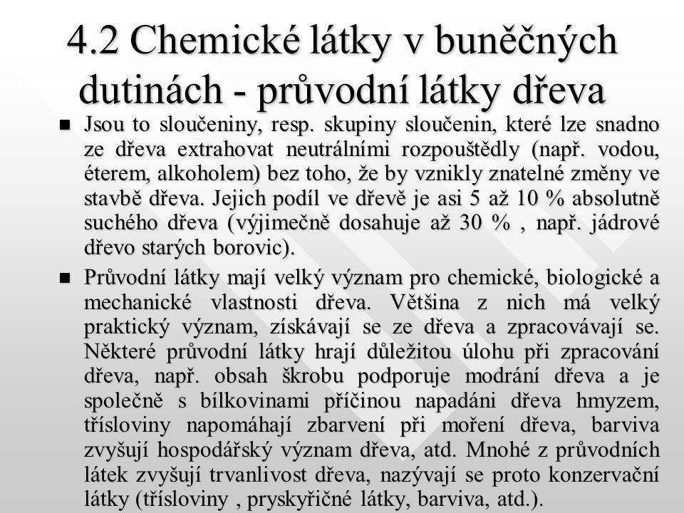4.1.4Pektiny Vyskytují se hlavně v mladých stromech, kde jsou důležitou součástí mladé buněčné stěny a také střední lamely.