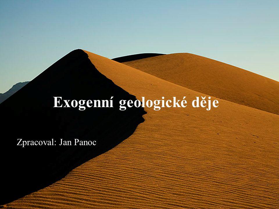 Exogenní geologické děje Zpracoval: Jan Panoc