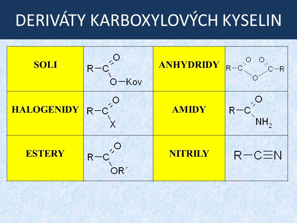 ZAHŘÍVÁNÍ HYDROXYKYSELIN β - hydroxykyseliny  dehydratace za vzniku nenasycené kyseliny (katalyzováno přítomností kyselin)
