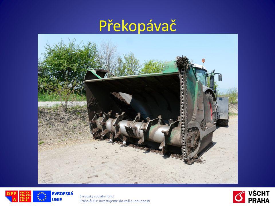 Evropský sociální fond Praha & EU: Investujeme do vaší budoucnosti Překopávač