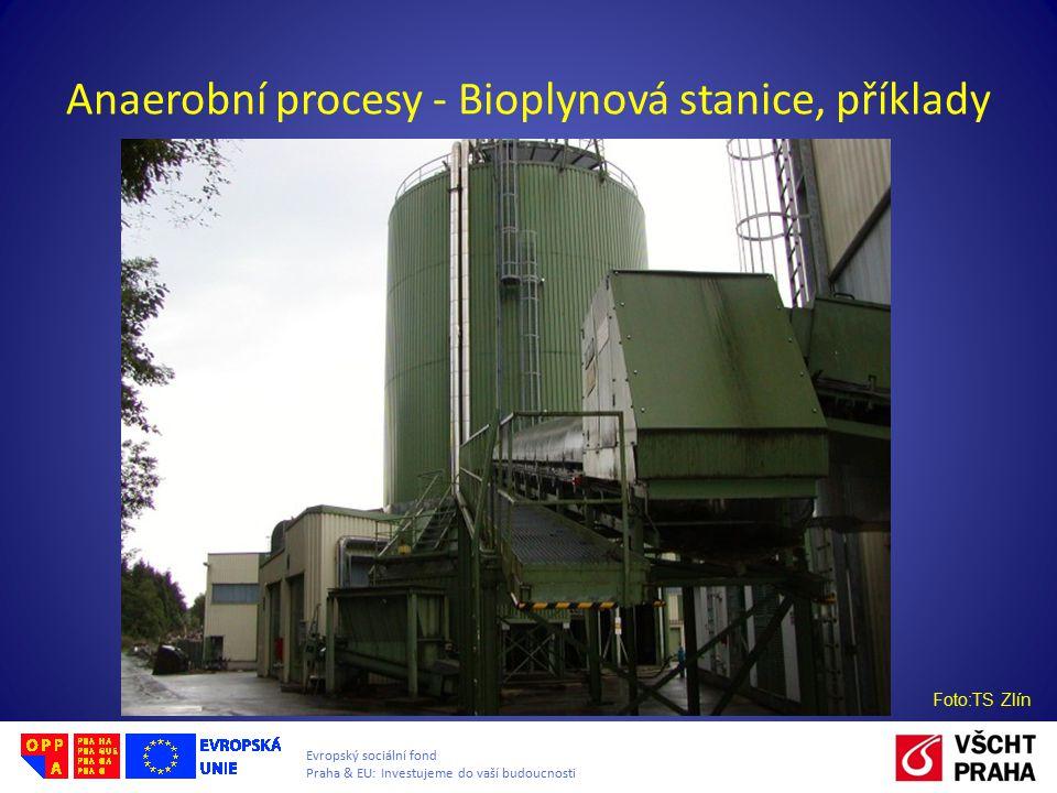 Evropský sociální fond Praha & EU: Investujeme do vaší budoucnosti Anaerobní procesy - Bioplynová stanice, příklady Foto:TS Zlín