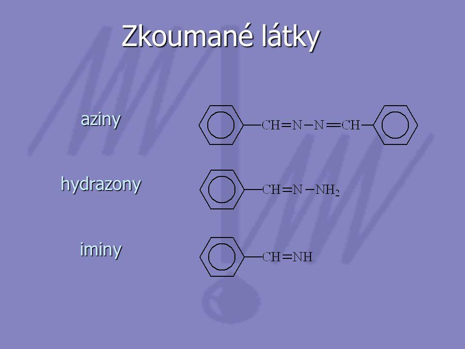 Zkoumané látky azinyhydrazonyiminy