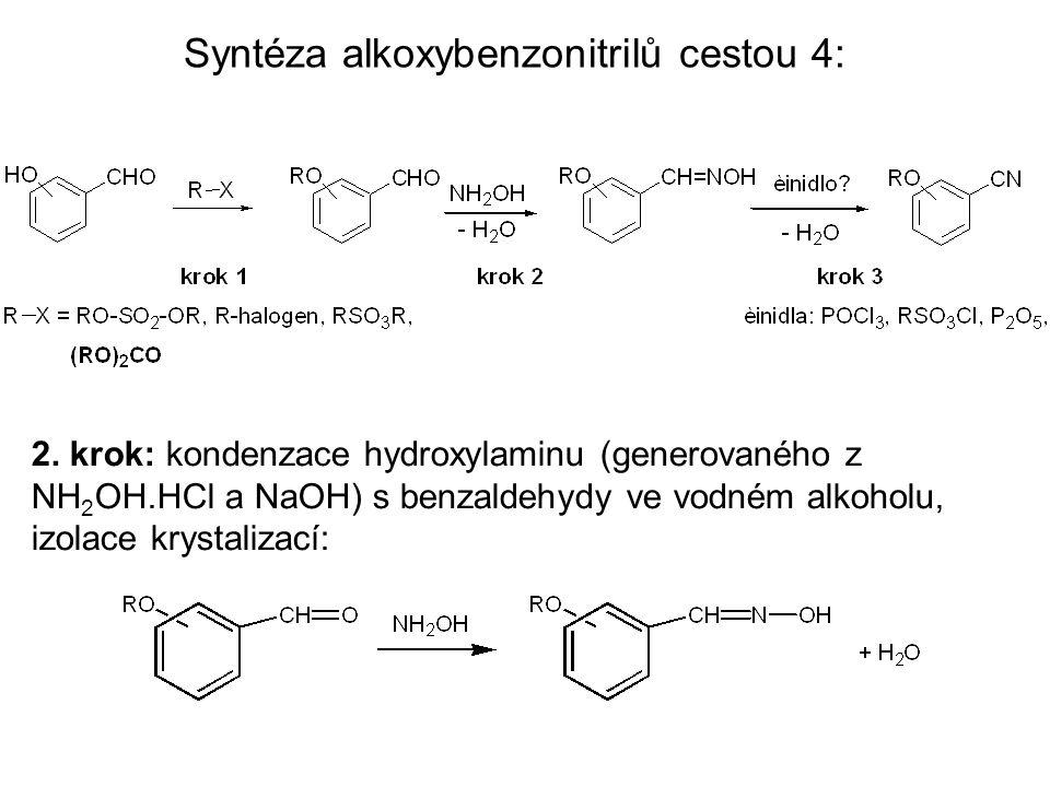 Syntéza alkoxybenzonitrilů cestou 4: 2.