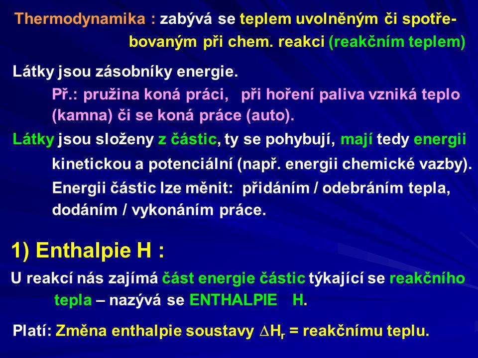 Látky jsou zásobníky energie.
