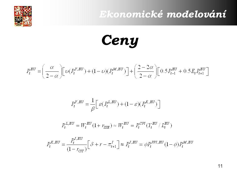 11 Ceny Ekonomické modelování