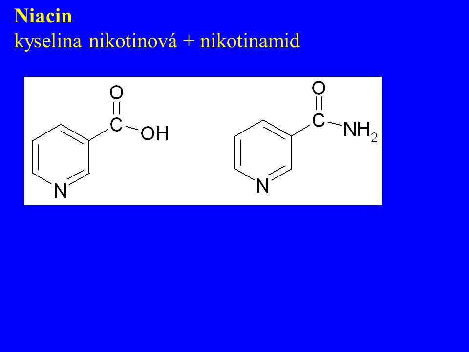 Niacin kyselina nikotinová + nikotinamid