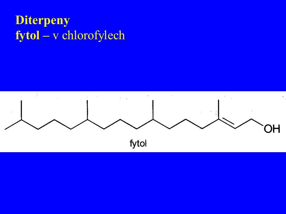 Diterpeny fytol – v chlorofylech