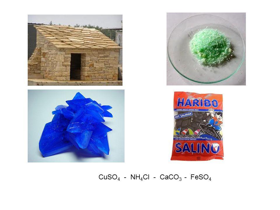 CuSO 4 - NH 4 Cl - CaCO 3 - FeSO 4