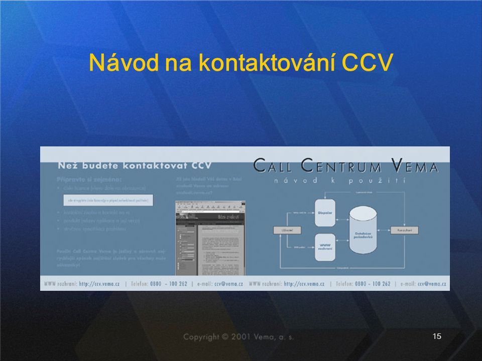 15 Návod na kontaktování CCV