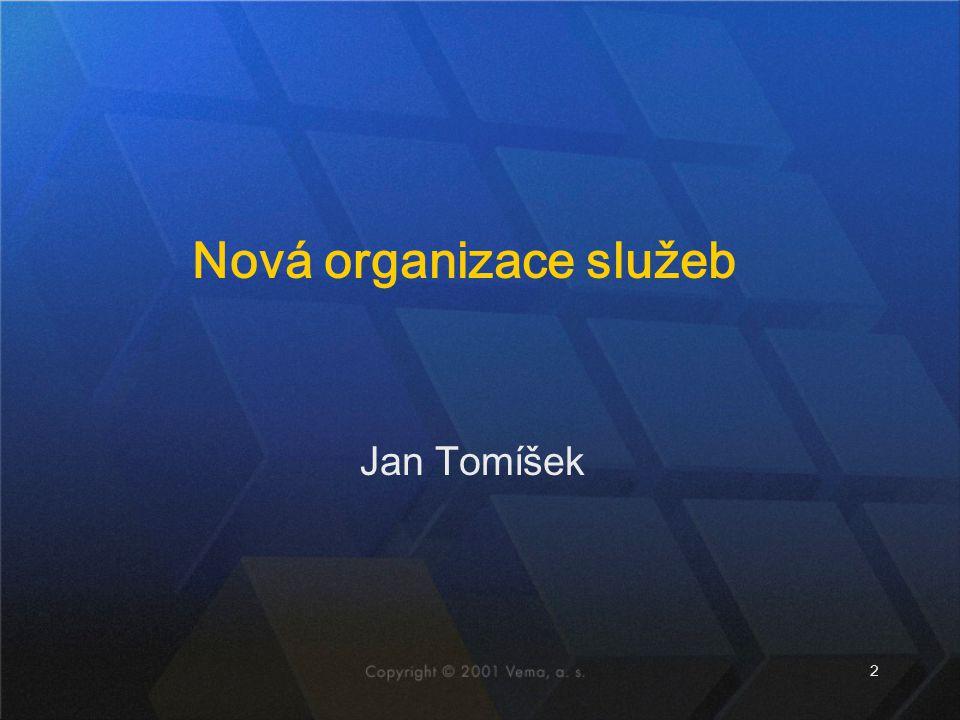 2 Jan Tomíšek Nová organizace služeb