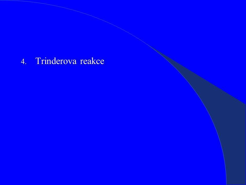 4. Trinderova reakce