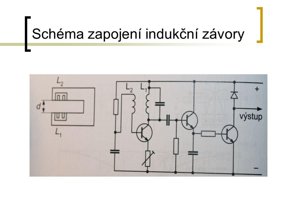 Schéma zapojení indukční závory