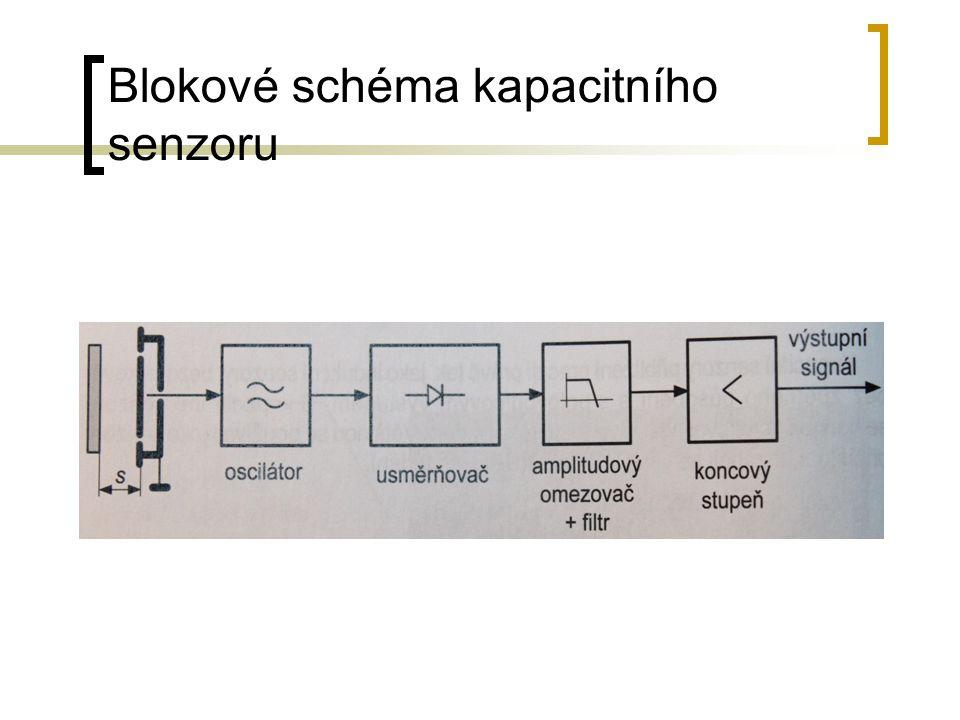 Blokové schéma kapacitního senzoru