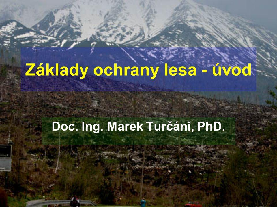 Informace o lesích ČR z hlediska ochrany lesa