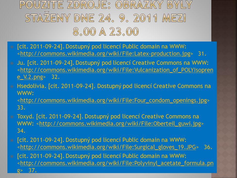  [cit. 2011-09-24]. Dostupný pod licencí Public domain na WWW: 31.http://commons.wikimedia.org/wiki/File:Latex-production.jpg  Ju. [cit. 2011-09-24]