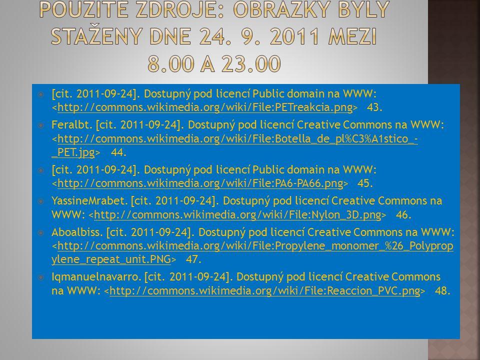  [cit. 2011-09-24]. Dostupný pod licencí Public domain na WWW: 43.http://commons.wikimedia.org/wiki/File:PETreakcia.png  Feralbt. [cit. 2011-09-24].
