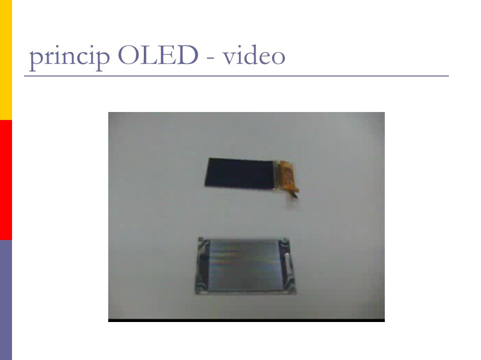 princip OLED - video