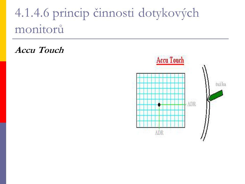 4.1.4.6 princip činnosti dotykových monitorů Accu Touch