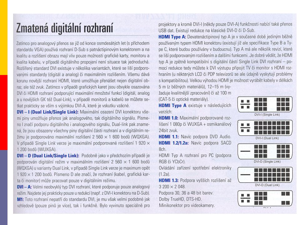 4.1.2 provedení  CRT  LCD  OLED  plazmové  projektory