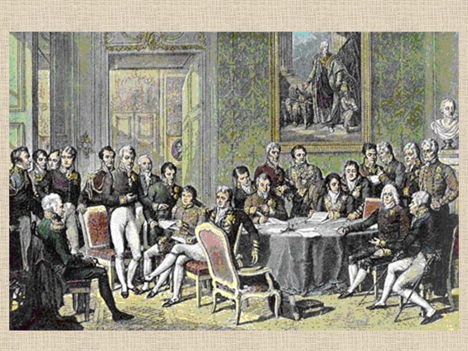 Po napoleonských válkách vzrostl význam Ruska a Rakouska Zisky: Rusko- získalo část Polska (včetně Varšavy) Prusko – získalo část Saska a část německého území Švédsko- získalo Norsko