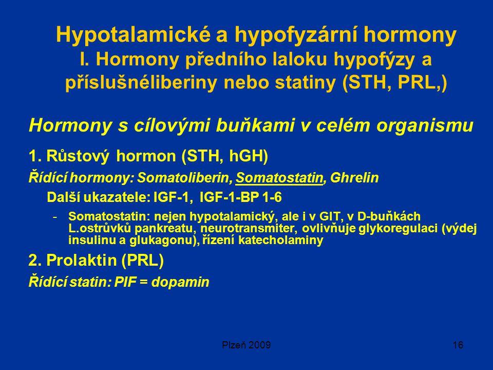 Plzeň 200916 Hypotalamické a hypofyzární hormony I.