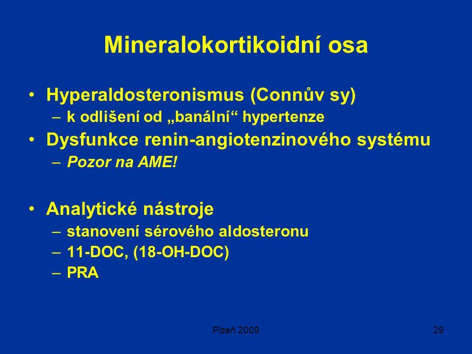 """Plzeň 200929 Mineralokortikoidní osa Hyperaldosteronismus (Connův sy) –k odlišení od """"banální hypertenze Dysfunkce renin-angiotenzinového systému –Pozor na AME."""