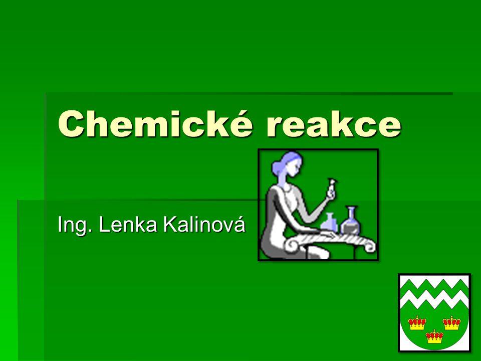 Chemické reakce Ing. Lenka Kalinová
