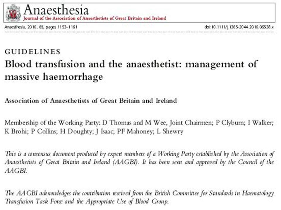 acute traumatic coagulopathy damage control resuscitation trigger for early haemostatic resuscitation goal-directed coagulation management Brohi K, Singh J, Heron M, Coats T: Acute traumatic coagulopathy J Trauma 2003, 54:1127-1130.