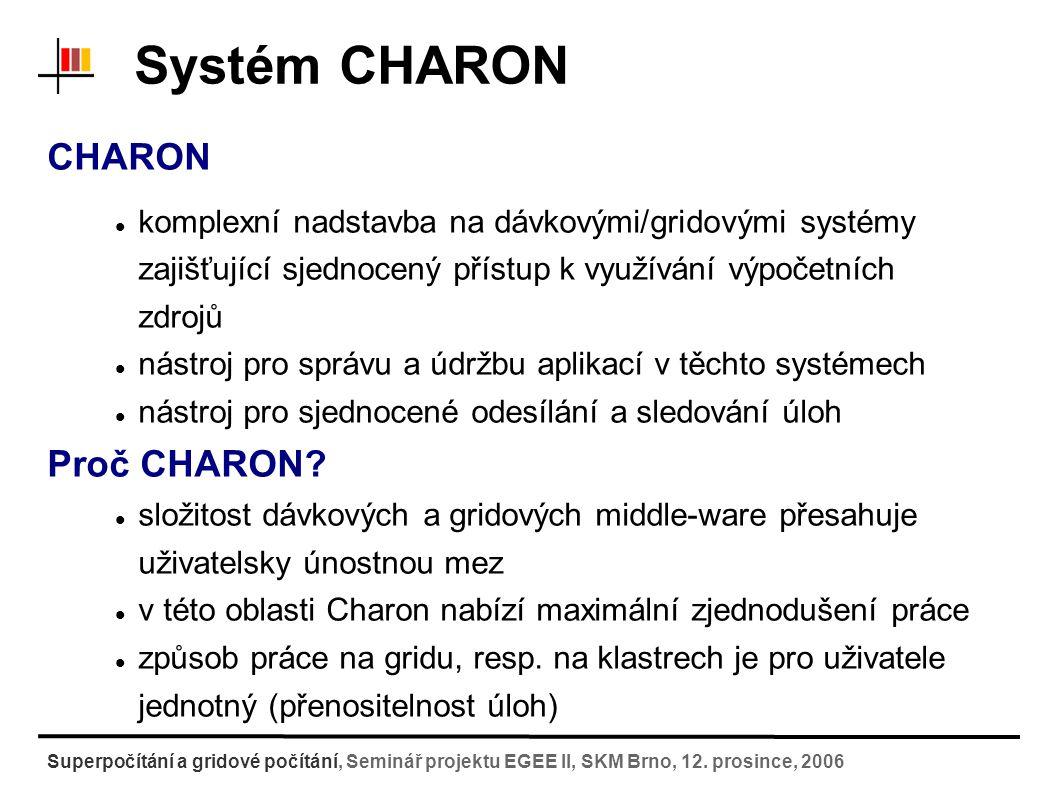 Systém Charon - DEMO Superpočítání a gridové počítání, Seminář projektu EGEE II, SKM Brno, 12.