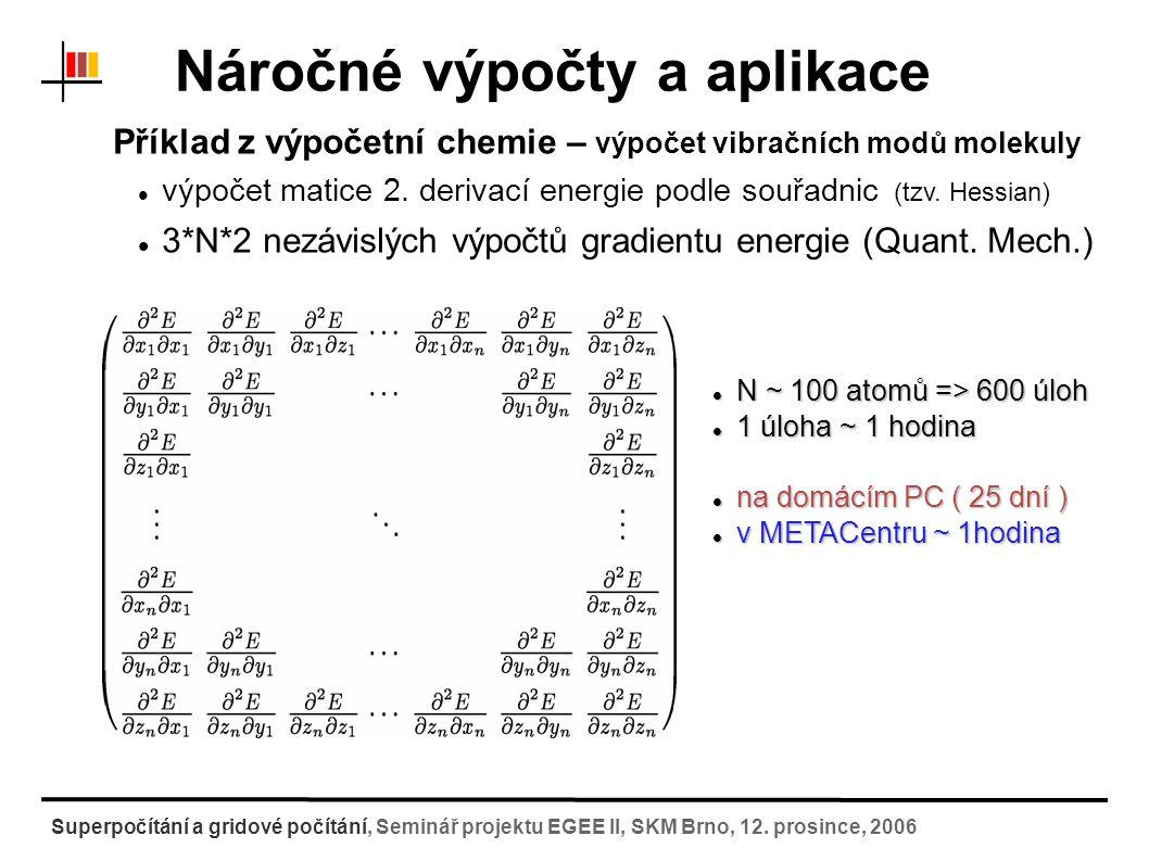 """Gridové systémy a práce v nich Computer cluster několik počítačů spojených pomocí sítě (LAN) lze s nimi pracovat odděleně nebo se můžou navenek (při vzdáleném připojení) jevit jako jeden počítač uvnitř sítě se lze svobodně pohybovat (jednotlivé počítače si navzájem """"věří ) lze poměrně levně postavit z běžně dostupných PC a síťových komponent většinou stejné typy strojů (homogenní cluster X heterogenní cluster) Gridový systém rozsáhlý co do počtu výpočetních strojů, ukládacích kapacit,..."""