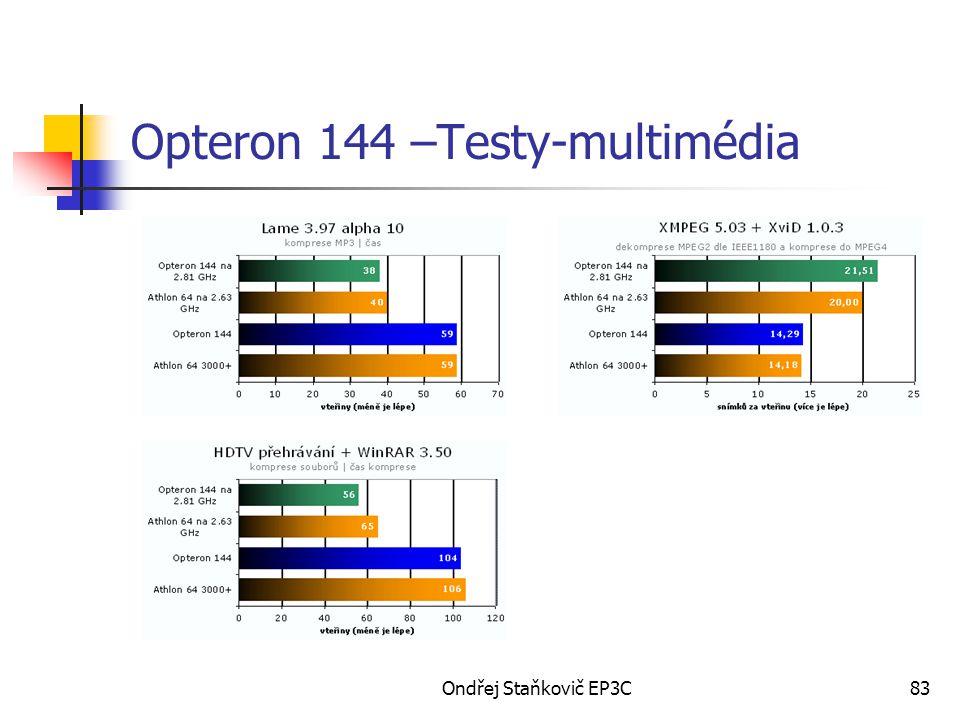 Ondřej Staňkovič EP3C83 Opteron 144 –Testy-multimédia