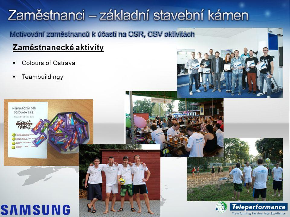 Zaměstnanecké aktivity  Colours of Ostrava  Teambuildingy