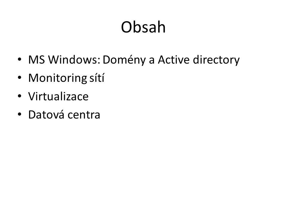 Seskupení počítačů se systémem Windows Pracovní skupina Doména