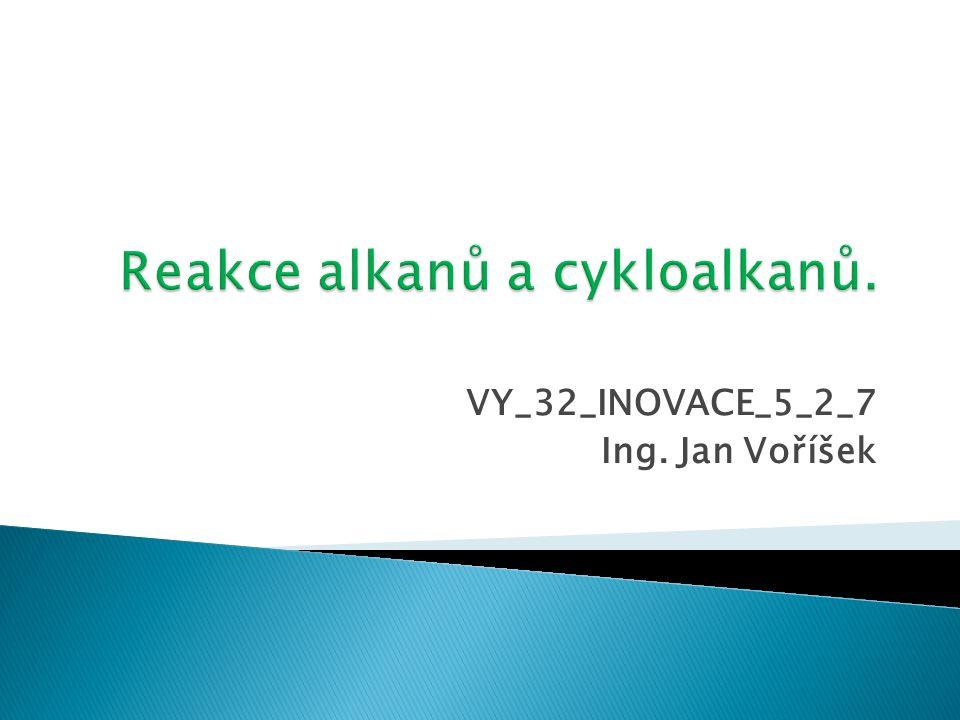 Dalším významným typem reakcí u alkanů jsou eliminační reakce.